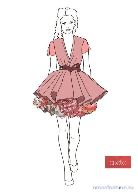 Эскиз выпускные платья картинки