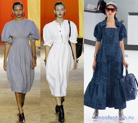Платья с объемным рукавом