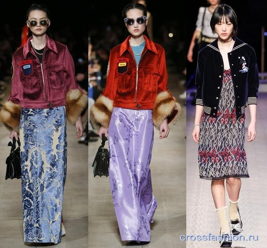 Модный бархат осень-зима 2016-2017 куртки
