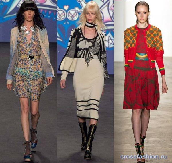модные вязаные кофты весна-лето 2015