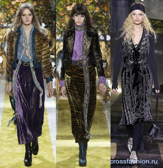 Модный бархат осень-зима 2016-2017 Юбки
