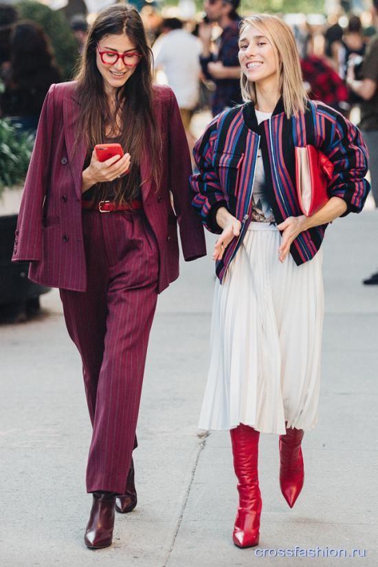 Street style Недели моды в Нью-Йорке, сентябрь 2017