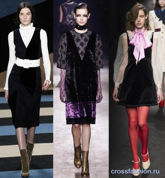 Модный бархат осень-зима 2016-2017 Сарафаны