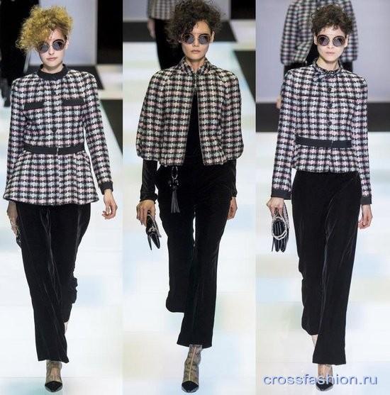 Модный бархат осень-зима 2016-2017 Брюки укороченные