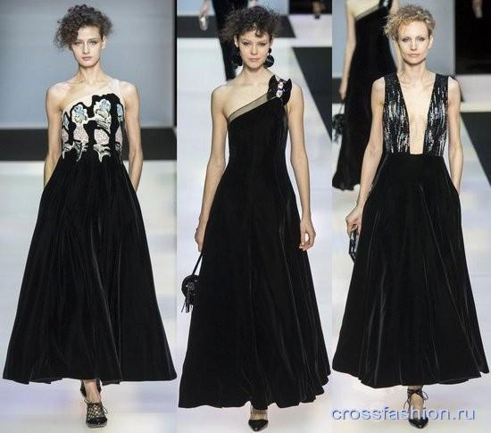 Модный бархат осень-зима 2016-2017 Вечерние платья