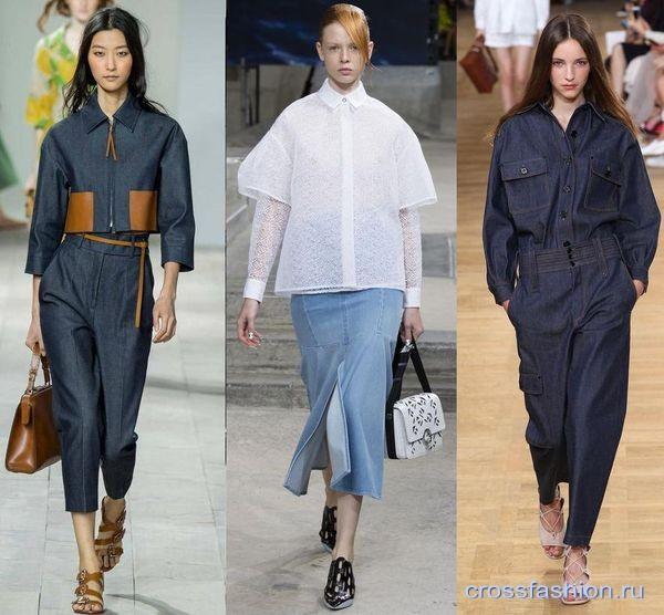 Модные тенденции на фото | Джинсовая мода 2015