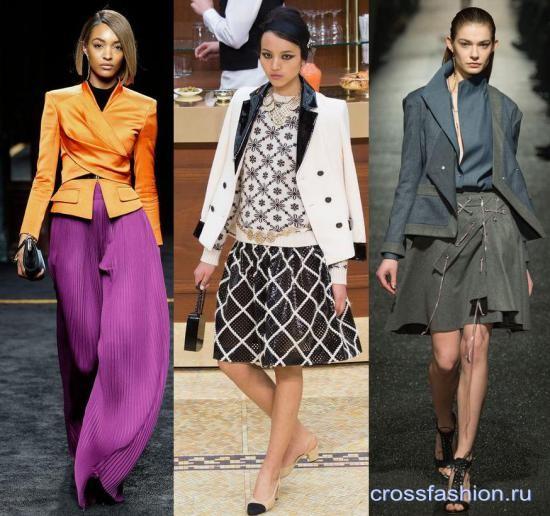 Мода на пиджаки и юбки