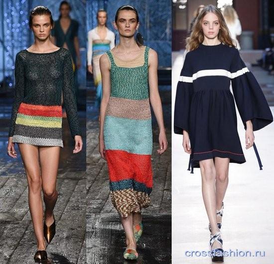 Модные вязаные и трикотажные вещи весна-лето 2017