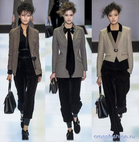 Модный бархат осень-зима 2016-2017 брюки