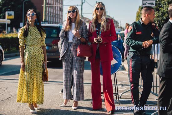 Стрит стайл миланской Недели моды, сентябрь 2017