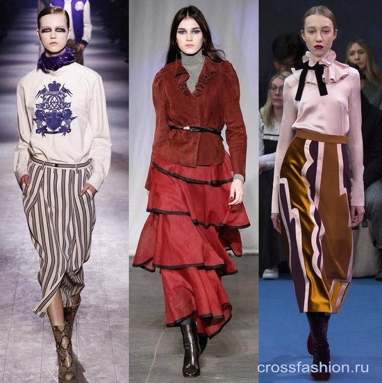 Модели юбок зима-осень