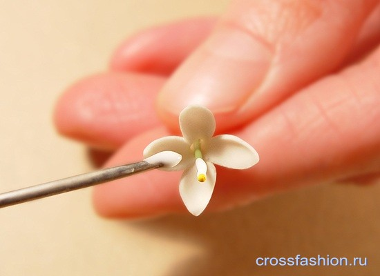 Цветы из холодного фарфора: ветка сирени мастер-класс