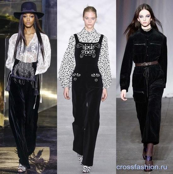 Модный бархат осень-зима 2016-2017 Комбинезоны