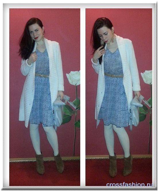 Легкое платье зима