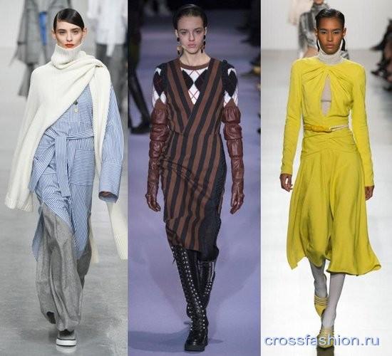 f264b700ded0 Модные сочетания с вязаной одеждой осень-зима 2017-2018: примеры из  коллекций