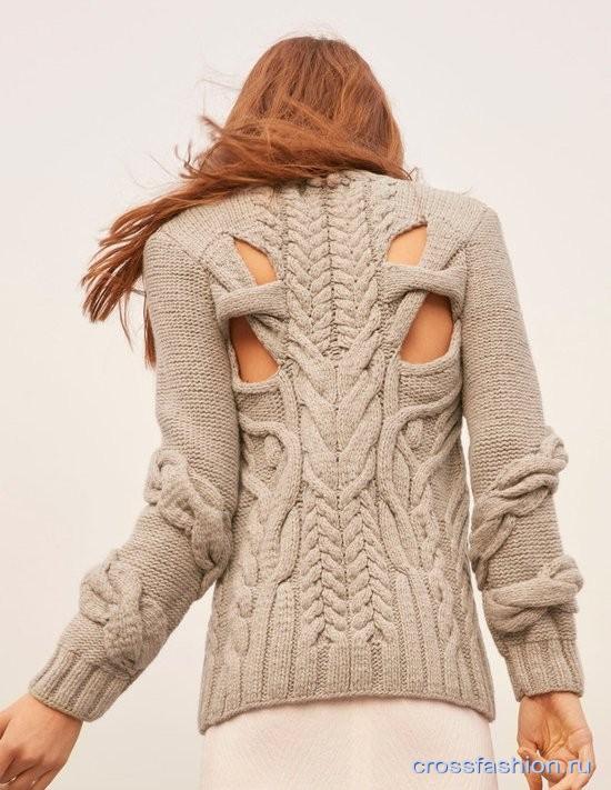 Модные джемперы спицами 2017