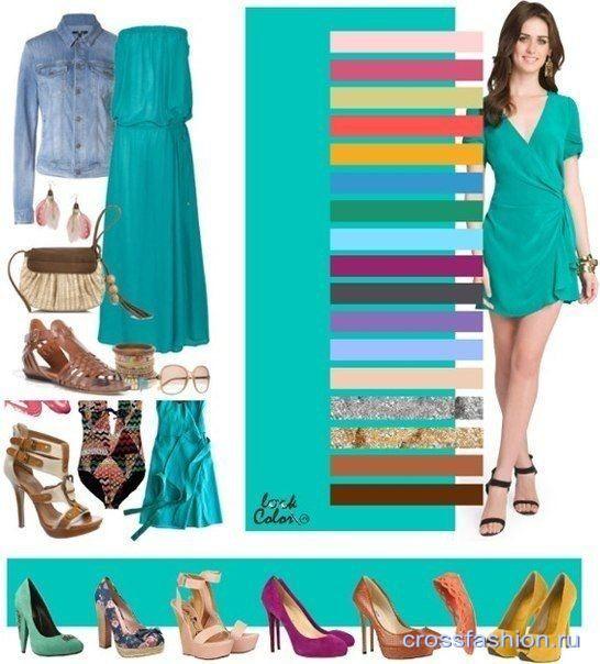 С чем одеть бирюзовое платье