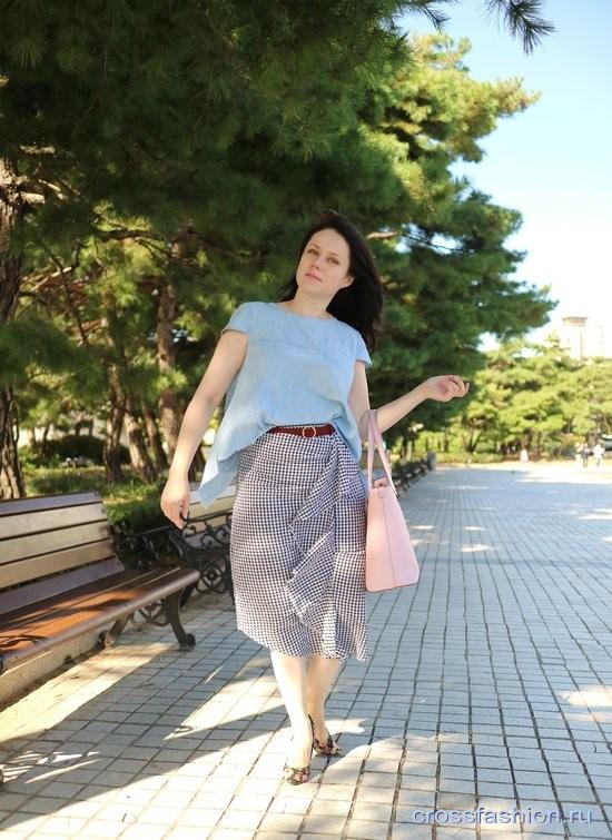 Принципы работы с гардеробом от Anna Crossfashion и лук с асимметричной юбкой