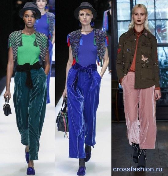 Бархат осень-зима 2017-2018: модные фасоны бархатной одежды и сочетания с ней