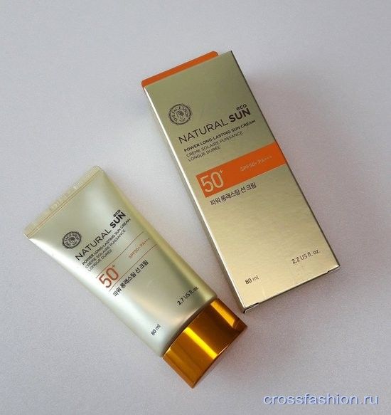 Natural Sun eco, Power Long-Lasting sun cream SPF 50+ PA+++ от The Face Shop