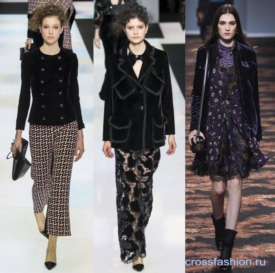 Модный бархат осень-зима 2016-2017 Жакеты