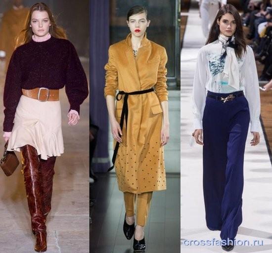 3379fb399791 Модные ремни и пояса осень-зима 2017-2018  актуальные модели и декор