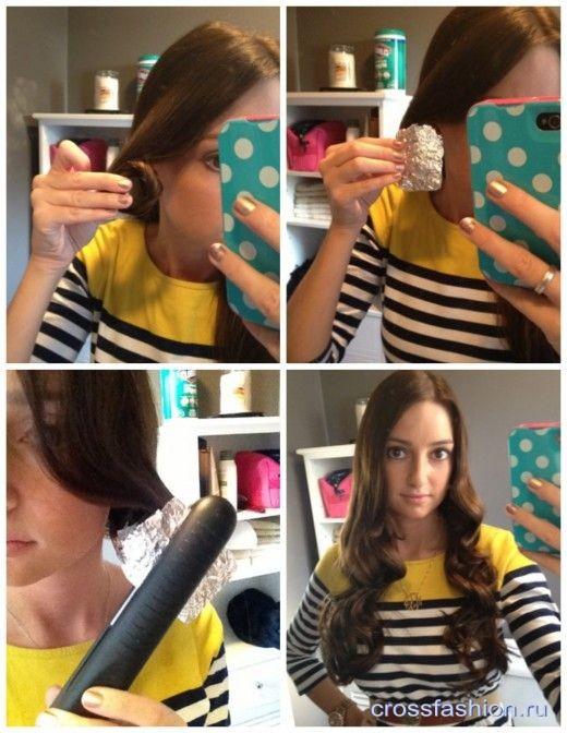 Заверните пряди волос