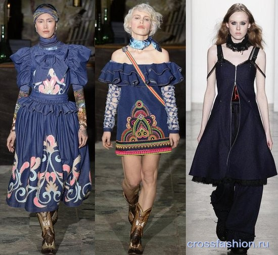 Джинсовые платья с отделкой