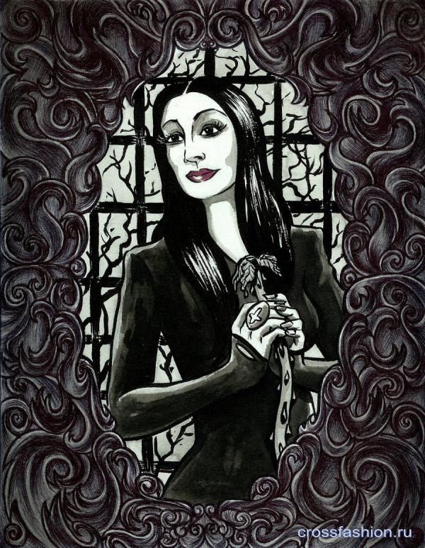 Morticia Adams by MGrigsbyArt