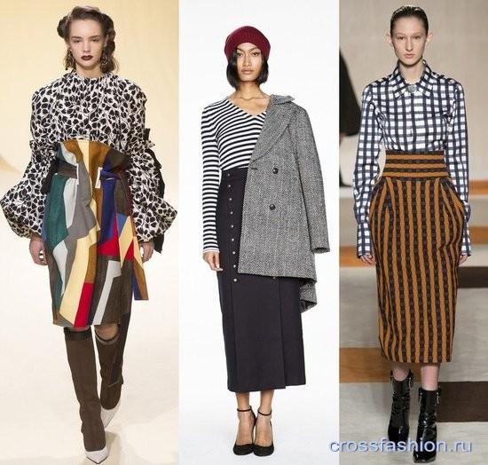 Какие юбки в моде зимой 2017