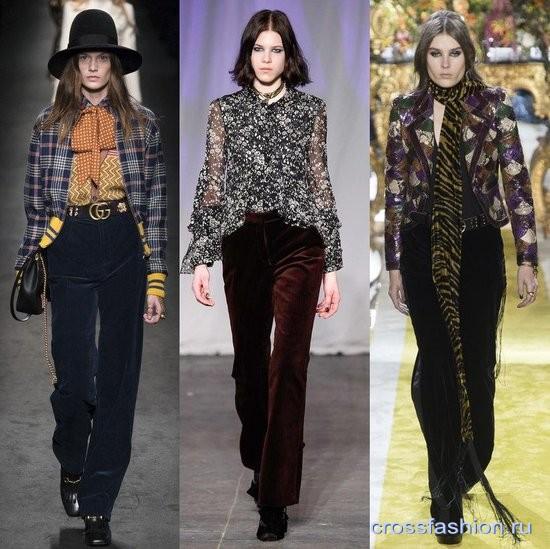 Модный бархат осень-зима 2016-2017 Классика