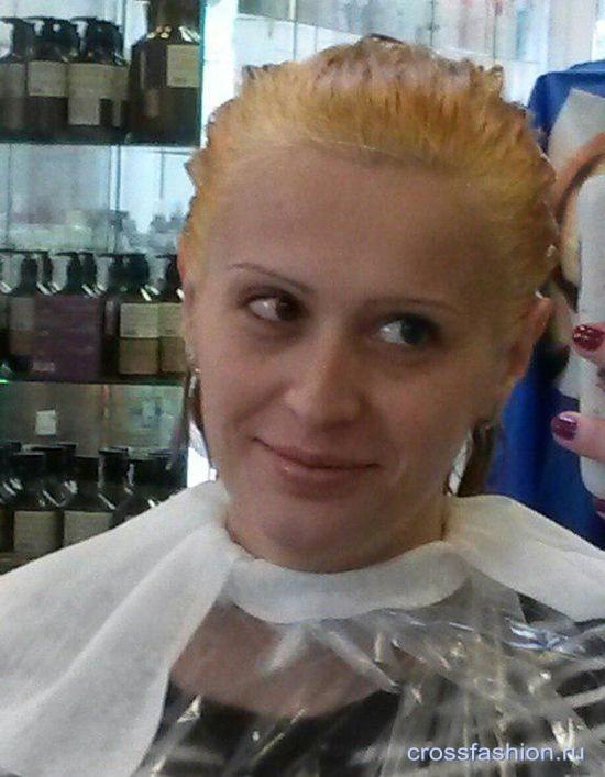 при покраске в блонд корни волос желтые что делать форум