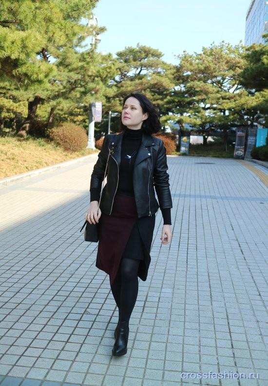 О базовой вещи гардероба по типу фигуры и look с черной курткой