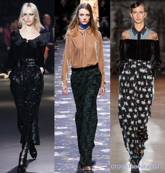 Модный бархат осень-зима 2016-2017 Блузки