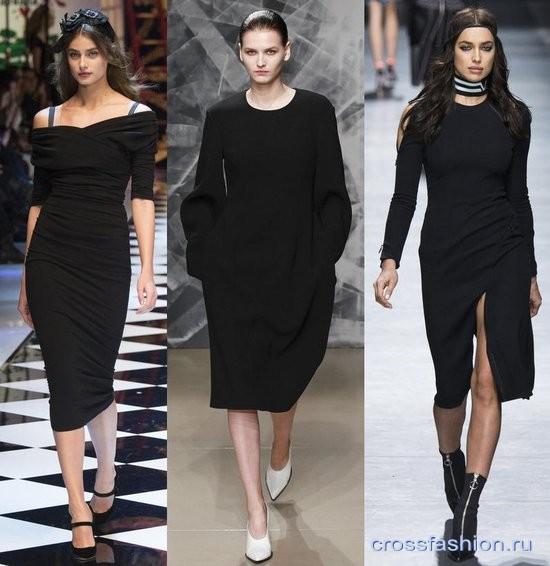 c940529d3c6a Crossfashion Group - Модные черные платья осень-зима 2016-2017 ...