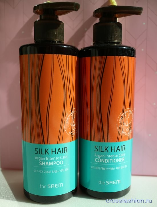 Saem Silk Hair Argan Intense Care Шампунь и кондиционер с маслом арганы