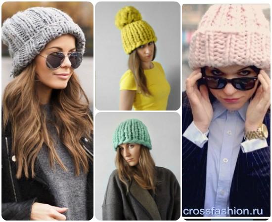 Crossfashion Group шапка крупной вязки спицами мастер класс со