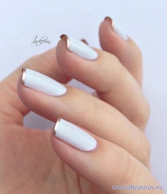 cf white-and-gold-nails