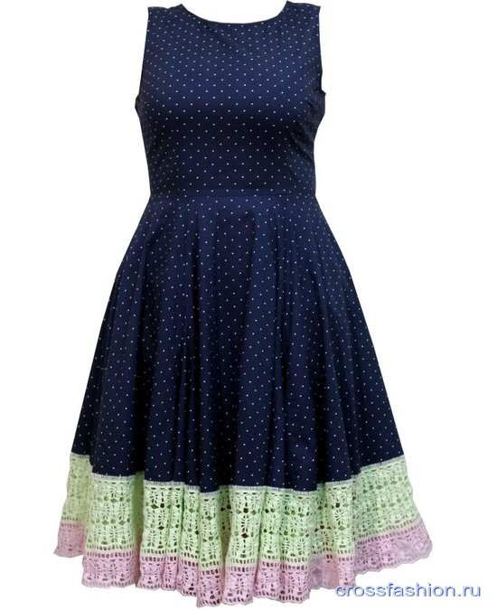 Crossfashion Group как удлинить платье или юбку крючком мастер