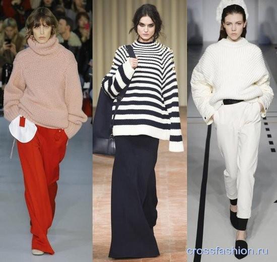 3658e0f33e19 Модные джемперы и свитеры оверсайз в коллекциях осень-зима 2017-2018  обзор