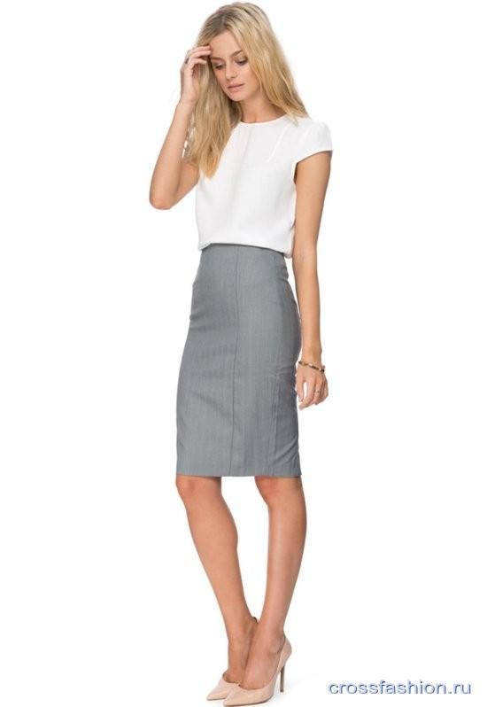 8bae41b7cc40 Crossfashion Group - Серая юбка-карандаш: с чем носить и как не ...