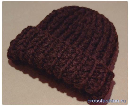 Шапка крупной вязки спицами: Мастер класс со схемами из блога «Дела швейные»