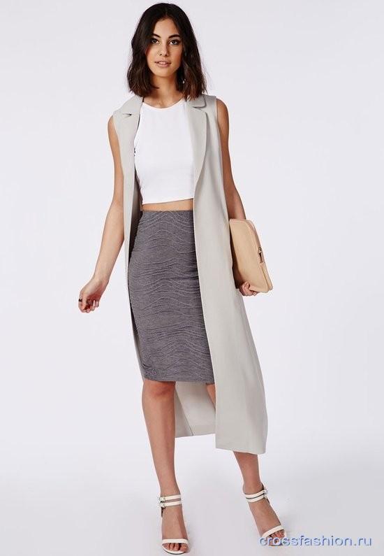 581bc17e030 Серая юбка-карандаш  с чем носить и как не выглядеть в ней офисной курицей