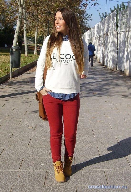 71aad204022 Crossfashion Group - Бордовые или винные джинсы  кому