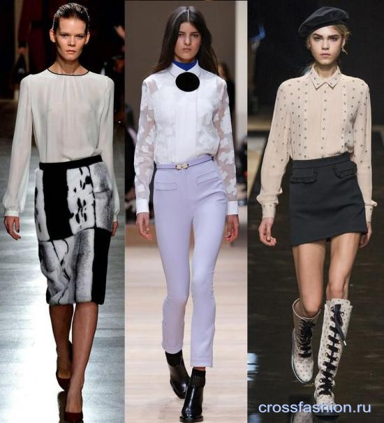 a5e0ba903f6 Crossfashion Group - Модные рубашки и блузки осень-зима 2015-2016 ...