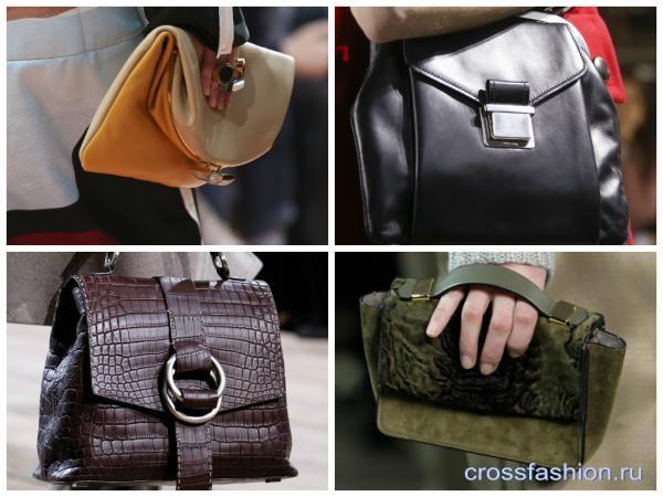 Первый тренд, который мгновенно привлекает внимание – разные по размеру  сумки, которые обязательно необходимо носить в руках. Даже если обе лямки  закинуты ... dc77274044f