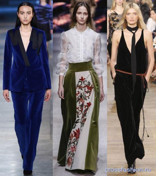 8bdd231bd16 Crossfashion Group - Модные платья и костюмы из бархата зима 2015 ...