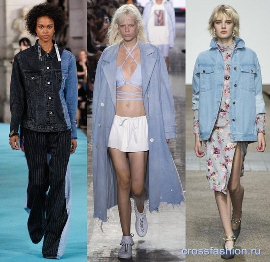 Модные джинсы, куртки, платья и юбки из денима весна-лето 2017